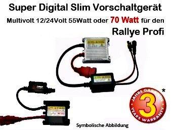 Super Digitales Vorschaltgerät 12-24 Volt Leistung: 35/55W und 70Watt für den Rallye Profi