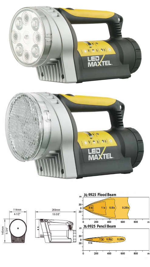MAXTEL JL-9925 LED PROFI SUCHSCHEINWERFER