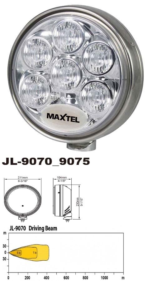 EDELSTAHL MAXTEL LED JL-9070 mit ECE Zulassung