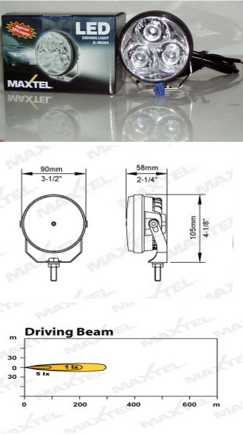 MAXTEL JL-9826A LED Scheinwerfer für MOTORAD und QUAD