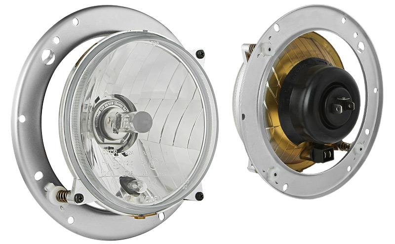 WESEM Einbau Hauptscheinwerfer Ø139 Typ H4, Abmessung 106x106 (Abblendlicht, Fernlicht, Positionslicht)